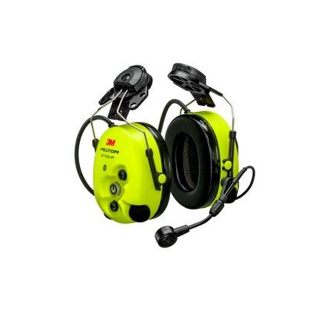 3M™ PELTOR™ WS ProTac XPI Level Dependent Bluetooth® Headset MT15H7P3EWS6-111, FLX2, Helmet Attached, Yellow, NRR 26 dB, CSA A
